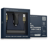 Elago Car Charger C6 - Dual USB + cable micro USB (Black)