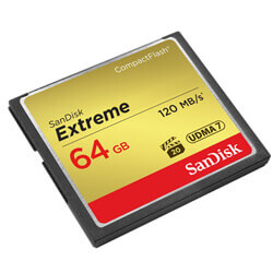 SanDisk CF eXtreme 64GB R120/W60MB/s SDCFXS-064G-X46
